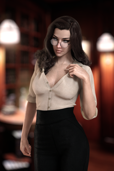 Gina sultry librarian by FranPHolland
