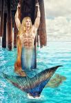 The Young Merman Prince Eric by seawaterwitch