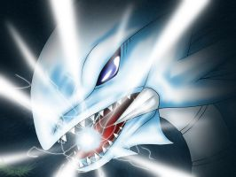 Blue Eyes White Dragon by Drytil