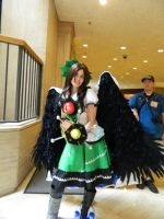 Okuu wings down! XD by Kitako