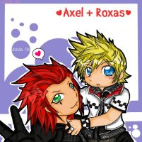 Axel and Roxas Luff by ChibiK