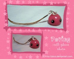 Poring cell-phone charm by Plua