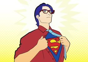 Self portrait as Clark Kent by Japanese-Whaleboy