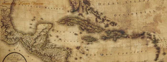 Map of the West Indies Facebook Cover by CrystalKittyCat