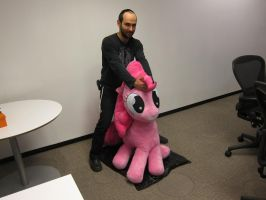 Human rides the pony! by purpletinker