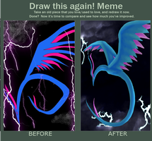 Draw This Again: Mystic Dragon Storm by DraconaVampira