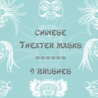 Chinese Theater Masks by rL-Brushes
