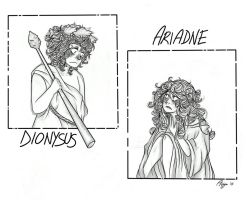PJO: Dionysus and Ariadne by AiniBluebell