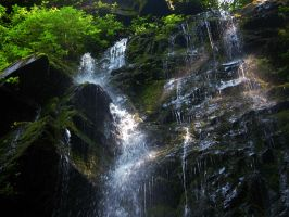 Waterfall 117 by AlissaDStock