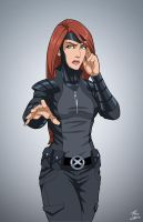 Jean Grey (uniform) commission by phil-cho