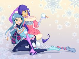 Winter Alecia and Neivi by fantazyme
