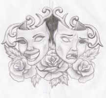 Masks and roses by cynthiardematteo