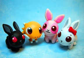 Maplestory Pet Sculptures by MaryBunnie