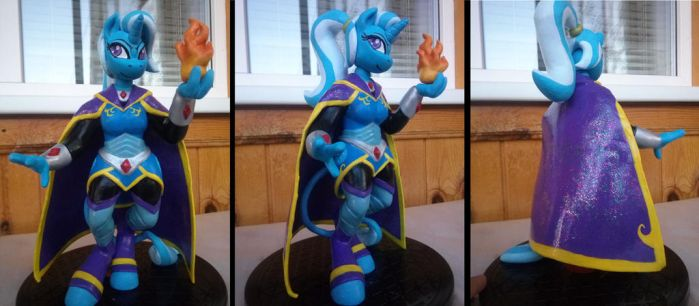 Anthro figurine Trixie Lulamoom-battlemage by glazkom