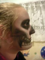 Reaper makeup. rightside1 by Dragon-princess08