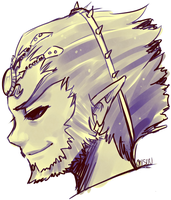 twilight princess -- ganondorf by onisuu