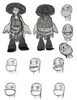 Sherif Turtle-modelsheet by MissKeith