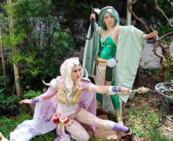 Rosa and Rydia FF4 Magic by CelestialShadow19