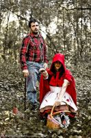 Red Riding Hood and Lumberjack by silvver