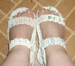 Plastic bag sandals by CherokeeCampFireGirl