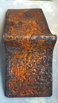 Map of westerns leather wallet close up by Bubblypies
