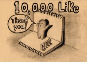 3D Drawing - 10,000 like on facebook by NAGAIHIDEYUKI