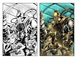 Bioshock coloring by johnnymorbius