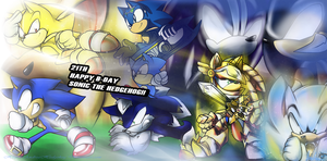 HAPPY 21 Sonic! by andreahedgehog