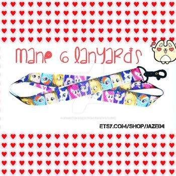 Mane 6 Lanyards by cha0tyk-harm0nye