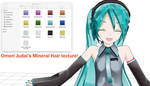 MMD Mineral Hair Texture + DL by Omori-P