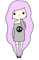 Pastel Goth Peace Sign by JadenLee1998