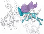 Suicune doodles by AR-ameth