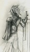 Cloud  strife - lone by andyk1