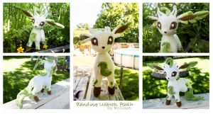 Leafeon Plush by BeeZee-Art