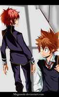 Tsuna And Enma  by Magooode