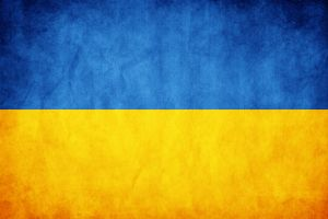 Ukraine Grunge Flag by think0