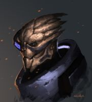 Garrus sketch by Cameli36
