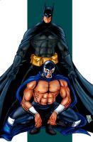Batman y Blue Demon - color by Kerivan