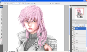 Lightning FF13 in coloring by Angy89