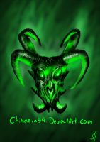 Green Dragon Skull by Chimaera94