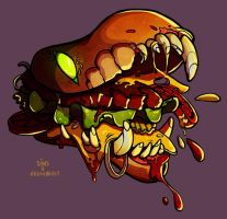 Hamburger monster by SIIINS