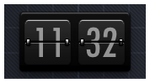 FlipClock for Geektool by BomBerOne666