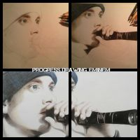 Progress drawing Eminem by Tropical-Rain