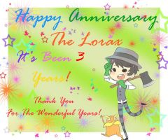 Happy Anniversary The Lorax! by MewCherryBlossom
