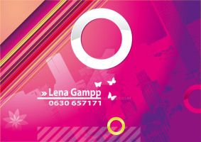 Urban feminine business card by symonel