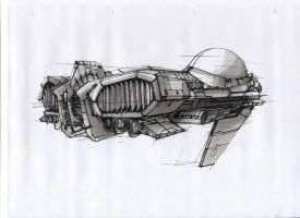 Space ship sketch by capottolo