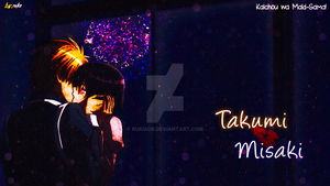 Kaichou Wa Maid-sama! Takumi and Misaki Background by RukiaDB