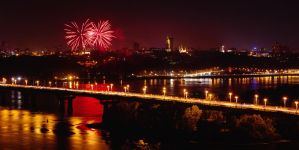 fireworks in Kyiv by dimocritus