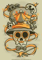 skull of circus by drud-studio