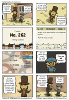 Professor Layton fan comic by karenluk